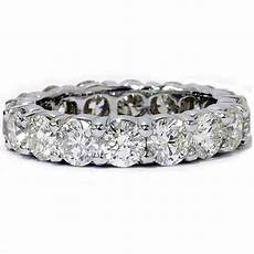 unique huge 5 00ct round diamond eternity ring wedding