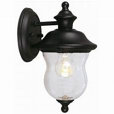 design house highland black outdoor wall downlight 502906 the home depot