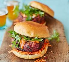 ultimate veggie burger with pickled carrot slaw recipe