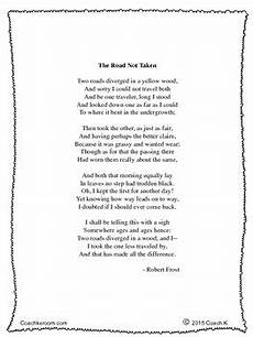 the road not taken by robert frost mini unit by coach k s room tpt