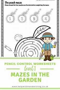 motor skills maze worksheets 20676 the gardeners mazes level 1 maze difficulty handwriting practice motor activities