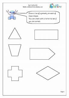 year 2 maths symmetry worksheets symmetry 1 geometry shape maths worksheets for year 2 age 6 7