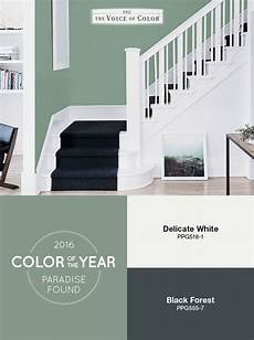 the ppg voice of color 174 2016 paint color of the year paradise found is a soothing green paint