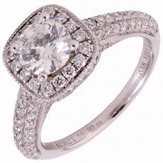 pre owned 18ct white gold vera wang love halo diamond ring jewellery from william may jewellers uk