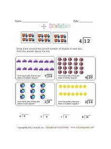 division concepts worksheet for 2nd 3rd grade lesson planet