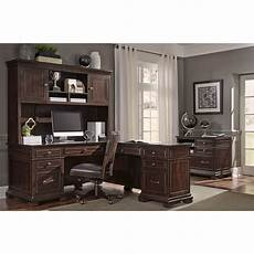 home office furniture l shaped desk aspenhome weston l shaped desk with hutch and built in