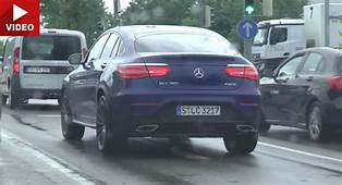 New Mercedes GLC Coupe Spotted In Traffic  Carscoops