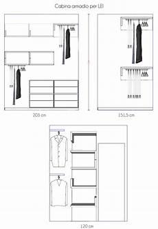 dimensioni guardaroba idee cabina armadio piccola e stretta un progetto per