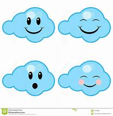 Happy Clouds Stock Vector Illustration Of Cloud