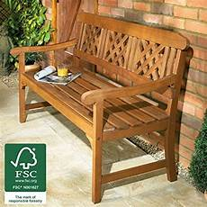 garden bench wooden all weather 3 seater hardwood patio