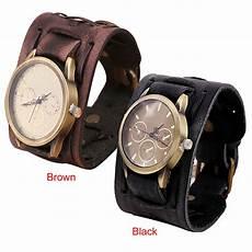montre bracelet cuir large fashion s new style retro rock brown big
