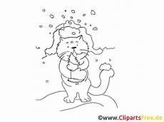 Malvorlage Katze Zum Ausdrucken Katze Im Winter Grafik Bild Malvorlage Zum Ausdrucken