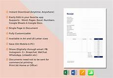 hotel receipt template in word excel apple pages numbers