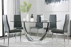 glass dining table chairs glass dining sets furniture choice