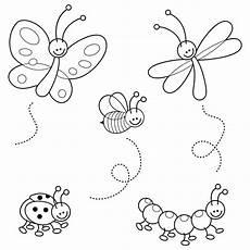 Ausmalbild Schmetterling Wiese Ausmalbilder Insekten Ausmalbilder