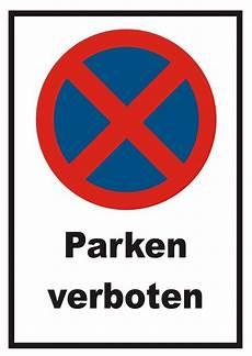 Parken Verboten Schild Halteverbot Parkverbot Stvo