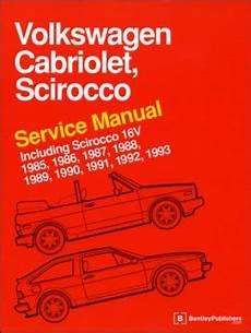 vehicle repair manual 1992 volkswagen cabriolet spare parts catalogs vw scirocco cabriolet service manual 1985 1993 at evwparts