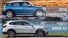 2018 mini countryman vs 2017 bmw x1 technical comparison