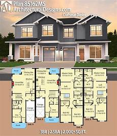 house plans for duplexes plan 85162ms craftsman duplex family house plans