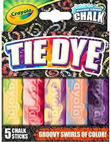 amazon com crayola tie dye washable sidewalk chalk 4 pkg
