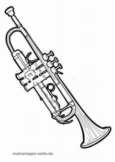 malvorlage trompete musik kostenlose ausmalbilder