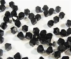 40 jet 4mm cristallo swarovski perle 5301 5328 doppio cono