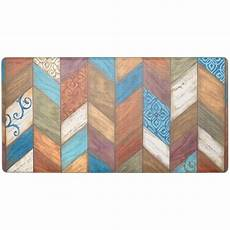Kitchen Mat Chevron by Home Dynamix Cook N Comfort Multi Rustic Chevron 20 In X