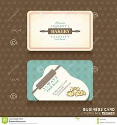 bakery name card template retro vintage business card for bakery house stock vector