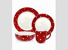 "Red polka dot dishes   Spode ""Baking Days"" Red Dinnerware"