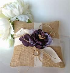 burlap ring bearer pillow purple ring pillow by twiningvines 35 00 m k wedding pinterest
