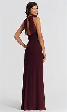 chiffon hayley paige long bridesmaid dress