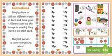 money worksheets sparklebox 2329 free shop money shop bingo