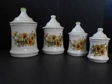 sunflower canister set kitchen canisters