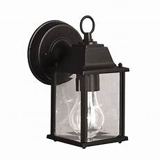 shop kichler lighting barrie 8 5 in h black outdoor wall light at lowes com