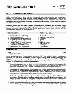 financial accountant resume template premium resume
