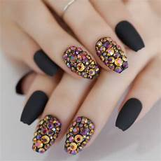 aliexpress com buy 24 coffin short matte black nails