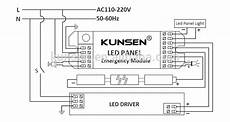 non maintained or maintained emergency light kit for led panel view emergency light kit kunsen