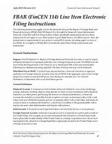 fincen form 114 fill online printable fillable blank