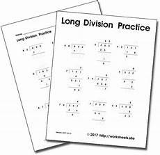 long division worksheets