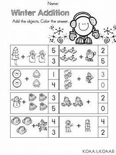 winter addition worksheets for kindergarten 9376 the world s catalog of ideas