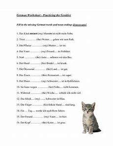 german dative worksheets 19628 a 1 page german worksheet on practicing the genitive language resources genitive