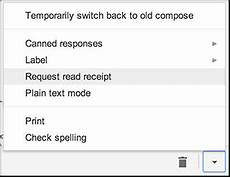 how to request a read receipt in gmail