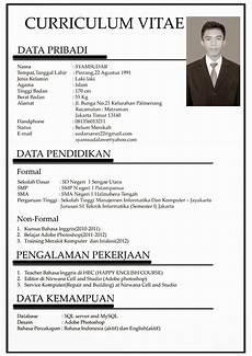 contoh singkat curriculum vitae bahasa indonesia info terbaru