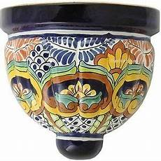talavera sconce quot chihuahua quot ceramic wall planters talavera pottery sconces