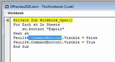microsoft excel vba code to protect sheets and show hide buttons super user