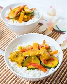 Curry Mit Reis - rezept h 228 hnchen gem 252 se curry mit aromatischem basmati reis