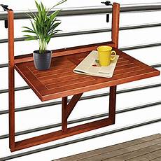 deuba table de balcon suspendue en bois d acacia