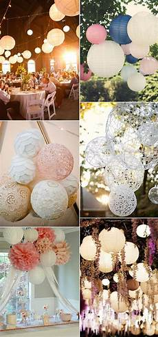 Paper Lanterns Wedding Decoration Ideas beautiful and stylish wedding hanging decorations