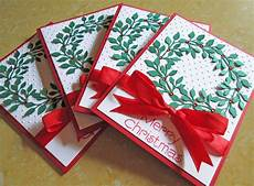 wreath cards embossed card sets