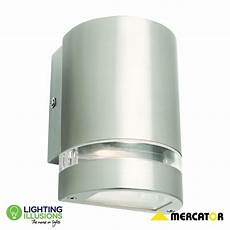 large mercator hastings 9w led stainless steel exterior up down wall light lighting illusions